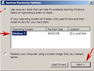 recovery manager windows